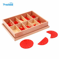 Baby Toy Montessori Cut Out Labeled Fraction Circles 11 20 Teaching Aids Wood Board Education Preschool Kids Brinquedos Juguetes