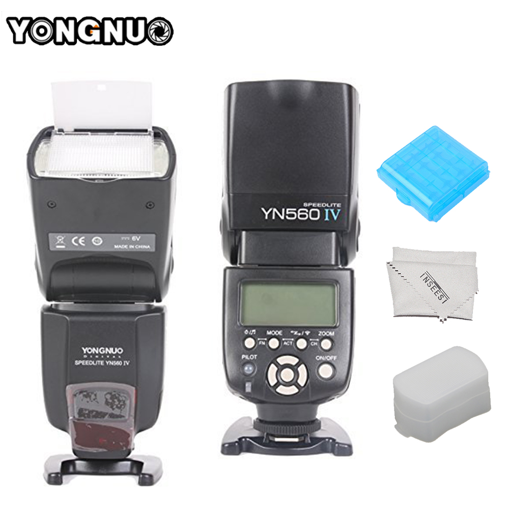YONGNUO YN-560IV YN560IV Wireless Flash Speedlite Master+Slave Flash Trigger System for Canon Nikon Pentax Olympus Sony Cameras yongnuo yn 560iv flash speedlite camera wireless flash light for nikon canon pentax olympus rf602
