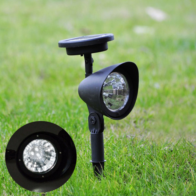 U-EASY 6 pcs/Pack LED Solar Lawn Light Outdoor Spike Pathway Spotlight Solar Powered Garden Waterproof Landscape