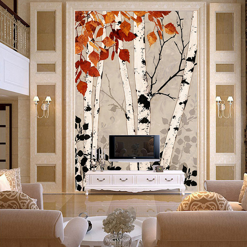 Custom any size 3D wall mural wallpapers for living room,Modern fashion beautiful new photo murals Porch tree wallpaper shinehome sunflower bloom retro wallpaper for 3d rooms walls wallpapers for 3 d living room home wall paper murals mural roll