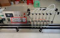 6 رؤساء كامل التلقائي السائل ماكينة حشو 10-500 مللي المقاوم للصدأ