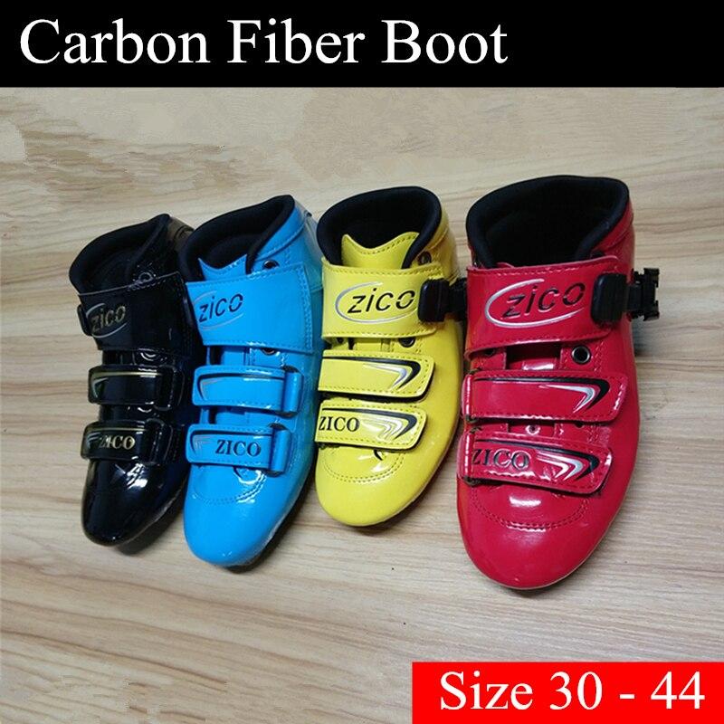 [Chaussures de patin] chaussures de Skate de vitesse en ligne botte supérieure 2 couches en Fiber de carbone adulte femmes hommes enfants enfants garçon filles taille 30-44
