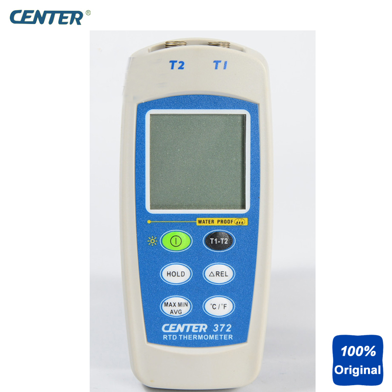 Dual Input Channels Thermocouple Thermometer RTD IP67 Waterproof Thermometer CENTER-372