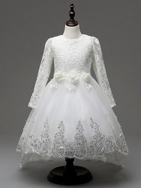 2017 Formal Girl Dresses Children White Princess Vestidos Kids