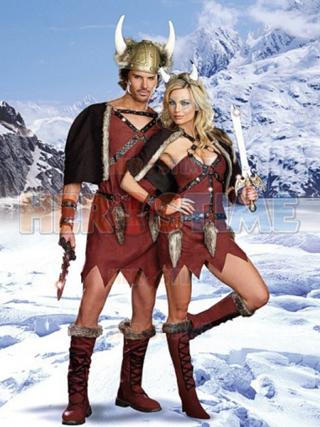 Deluxe Viking Chief Warrior Soldier Mens Fancy Dress Costume S XL