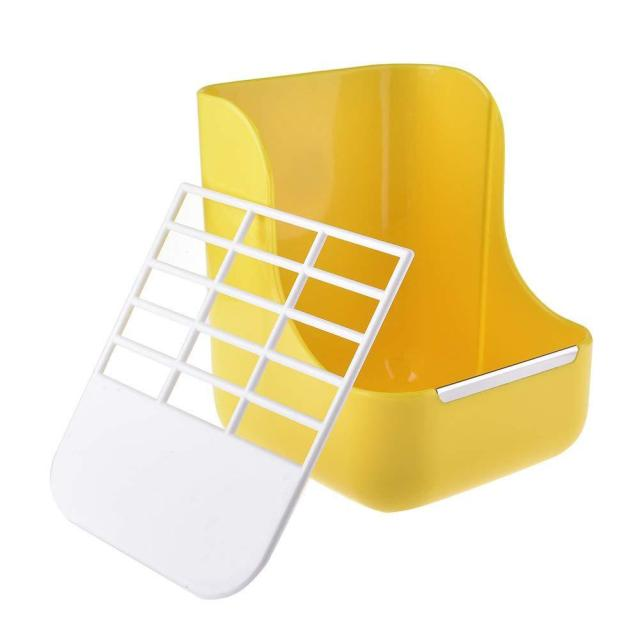 SaiDeng Two-in-one Pet Food Feeder/Grass Rack Fixed Feeding Bowl for Hamster Rabbit Small Animal Supplies-30