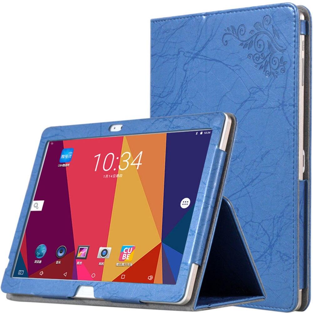 Para Cube T12 Caso de Impressão de Mão de Couro PU Caso Titular para Alldocube Cubo T10 T10 Plus Grátis Yang X7 10.1 polegadas Tablet Case + Stylus caneta