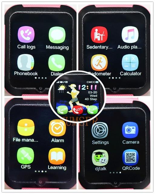 Kids GPS tracker watch V5K waterproof smart watches HD camera SOS Call Location Device Tracking Monitor children gift watch V5K 4