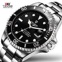 2017 Tevise Brand Men Mechanical Watch Automatic Role Date Fashione luxury Submariner Clock Male Reloj Hombre Relogio Masculino