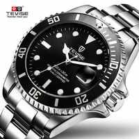 2019 Envío Directo Tevise marca superior hombres reloj mecánico automático de moda de lujo de acero inoxidable reloj Masculino