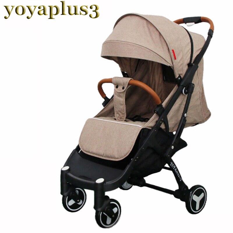 2019 YOYAPLUS 3 bébé poussette lumière parapluie bébé landau 5.8 kg ultra-léger pliant chariot portable voyage voiture peut être dans l'avion