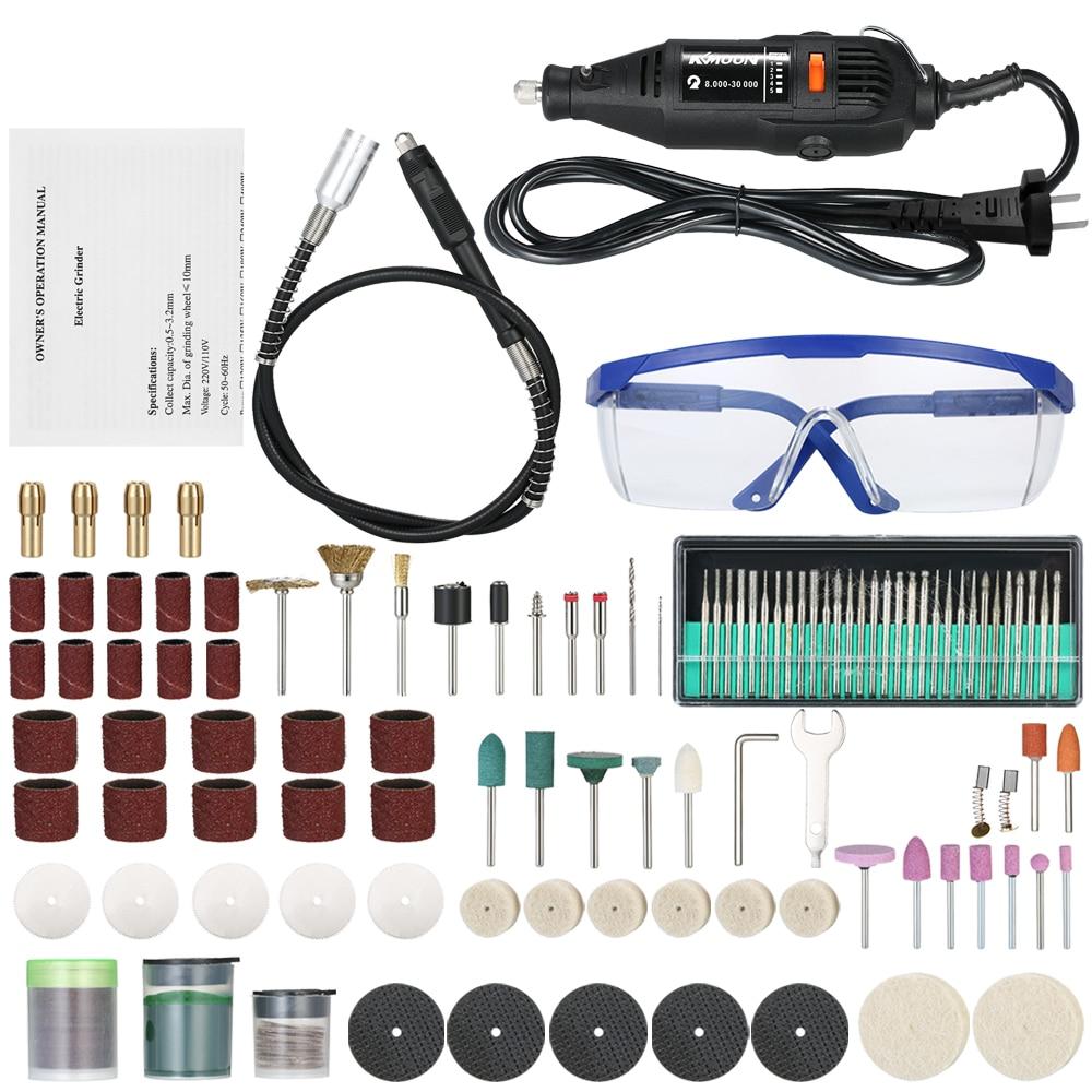 Grinder électrique Set Multi-fonctionnelle À Vitesse Variable Perceuse Électrique Outil De Meulage Rotatif avec 160 pcs Accessoires pour le Fraisage