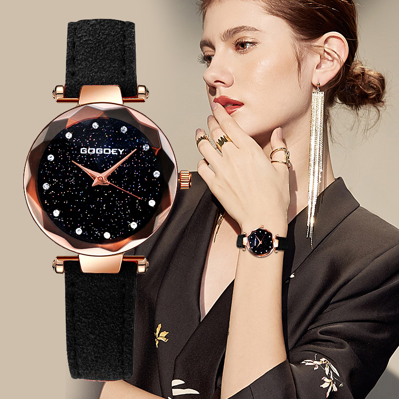 Gogoey Women's Watches 2019 Fashion Reloj Mujer Starry Sky Luxury Ladies Watches For Women Rhinestone Bayan Kol Saati