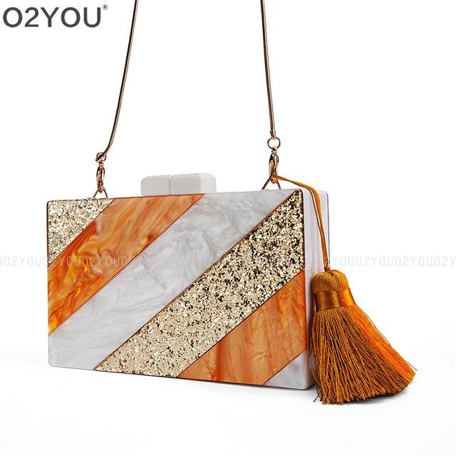 Fashion Solid Women S Clutch Bag Acrylic Envelope Evening Female Clutches Handbag