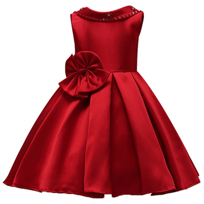 Infant Baby Girl Birthday Party Dresses Elegent Wedding Flower Girl Dress Gown Toddler Princess Lace petals Dress 15 color infant girl dress baby girl pageant dress girl party dresses flower girl dresses girl prom dress 1t 6t g081 4