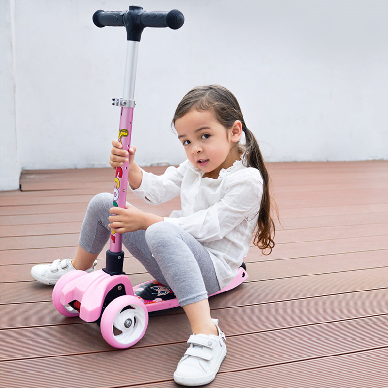 Children Baby Kick Scooter Kids Flashing Swing Car Lifting 2-15 Years Old Stroller Ride Bike Outdoor Toys Patinete Infantil free shipping scooter children 2 15 years old max load 60kg