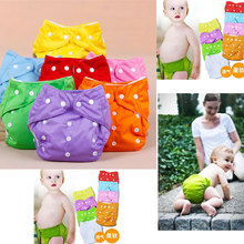 1Pc Cotton Reusable Nappies Soft Covers Baby Cloth Diapers Adjustable Training Pants Waterproof Diaper Nappy Changing