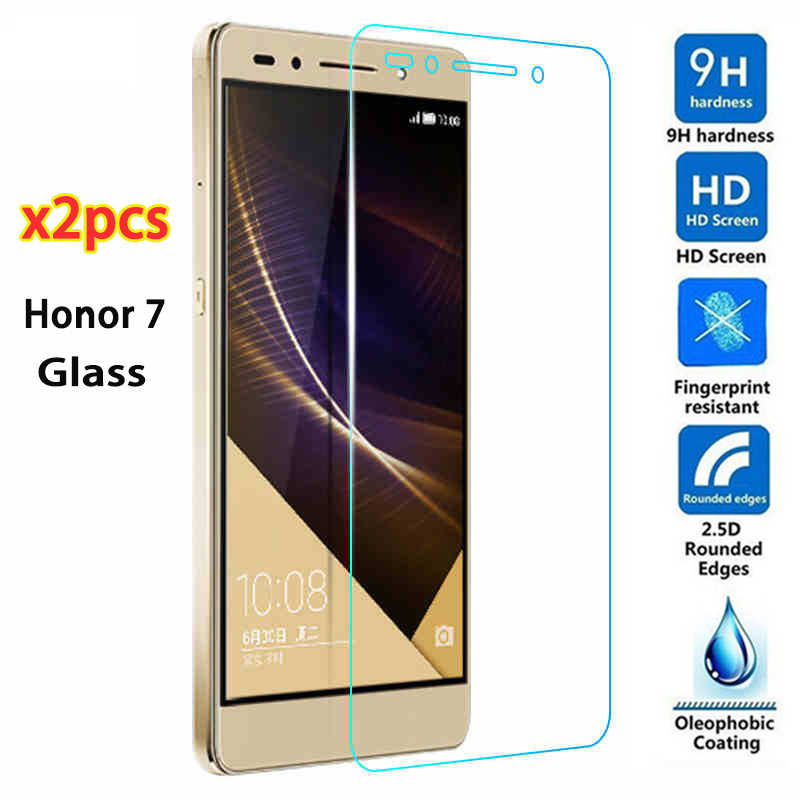 2 Pcs for Huawei Honor 7 Tempered Glass Film for Honor 7 lite 5C Full Cover Screen Protector on Honor 7 Glass Clear Transparent