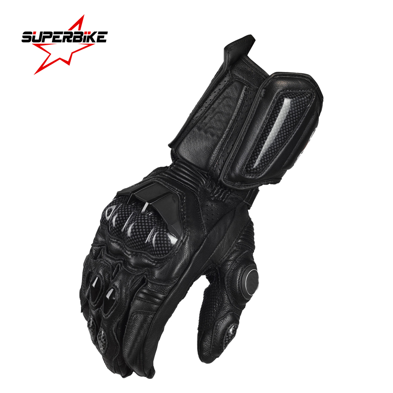 Prix pour Moto moto gants pour hommes gp pro en cuir gant motocross complet doigt long vélo racing gants moto luvas da motocicleta