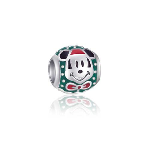 Men DIY Hợp Kim Vương Miện Hoa Bản Đồ Mickey Mouse Tình Yêu Trái Tim Quyến Rũ Phù Hợp Với Gốc Pandora Vòng Đeo Tay & Bangles cho Phụ Nữ quà tặng