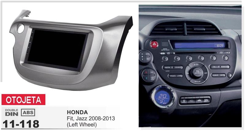 Convient pour Honda Fit Jazz 2008-13 roue gauche android 7.1 gps navi voiture lecteur dvd 1080 p stéréo multimédia headunit enregistreur radio