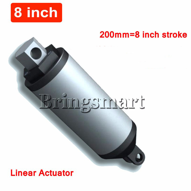 Bringsmart 12V 24V DC 200mm Stroke 8Inch Electric Linear Actuator 45-230mm/s 8 inch 200N 20KG Load 36V Tubular Electric Motor wholesale 12v linear actuator 150mm 6 inch stroke 7000n 700kg load waterproof 36v tubular motor 48v mini electric actuator 24v