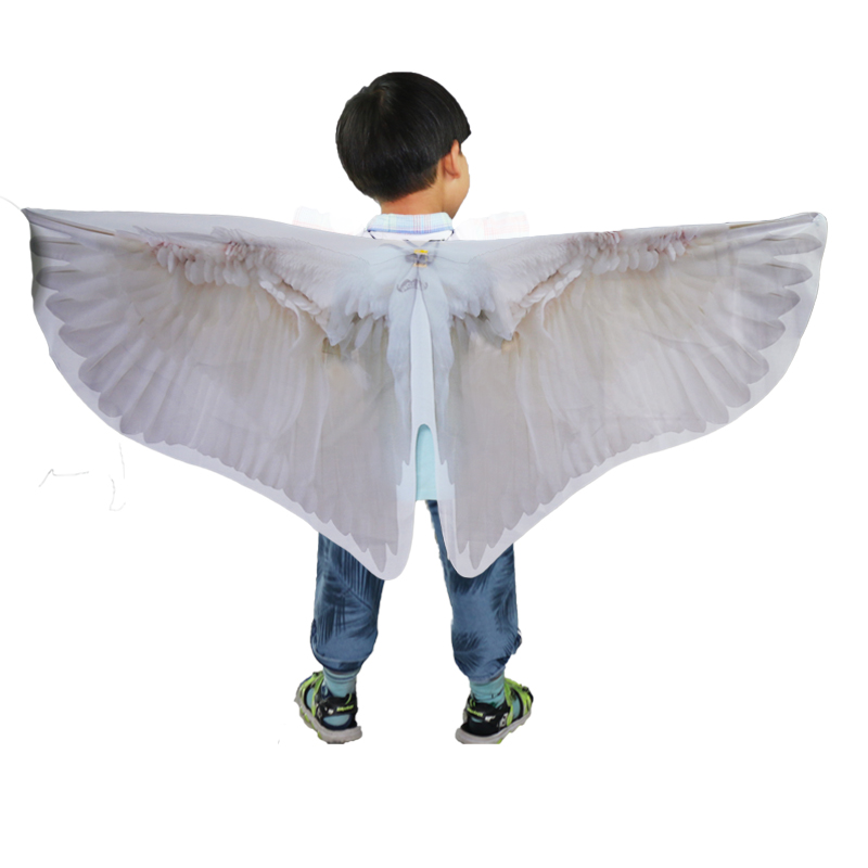 SPECIAL 120*70 Cm White Angel Wing Costume Kids Pigeon Costume For Birthday Party Child Dove Costumes Gifts Event Supplies