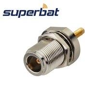 Superbat 10 قطعة N جاك الحاجز مستقيم RF موصل محوري ل الألياف الزجاجية الهوائي