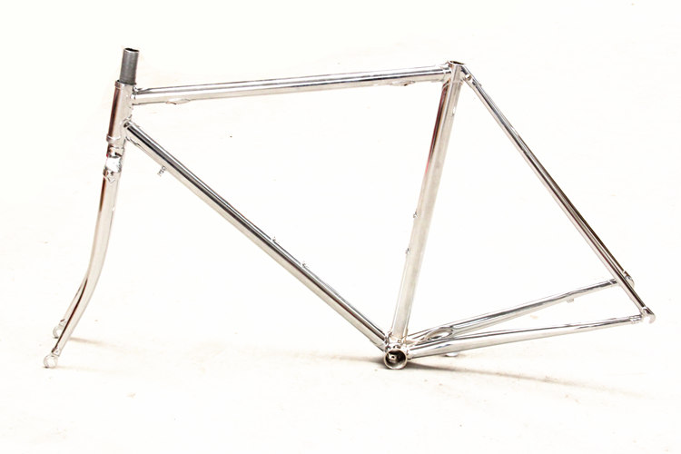 free shipping chromoly steel frame and fork vintage road bike bicycle frameset steel frame bicycle