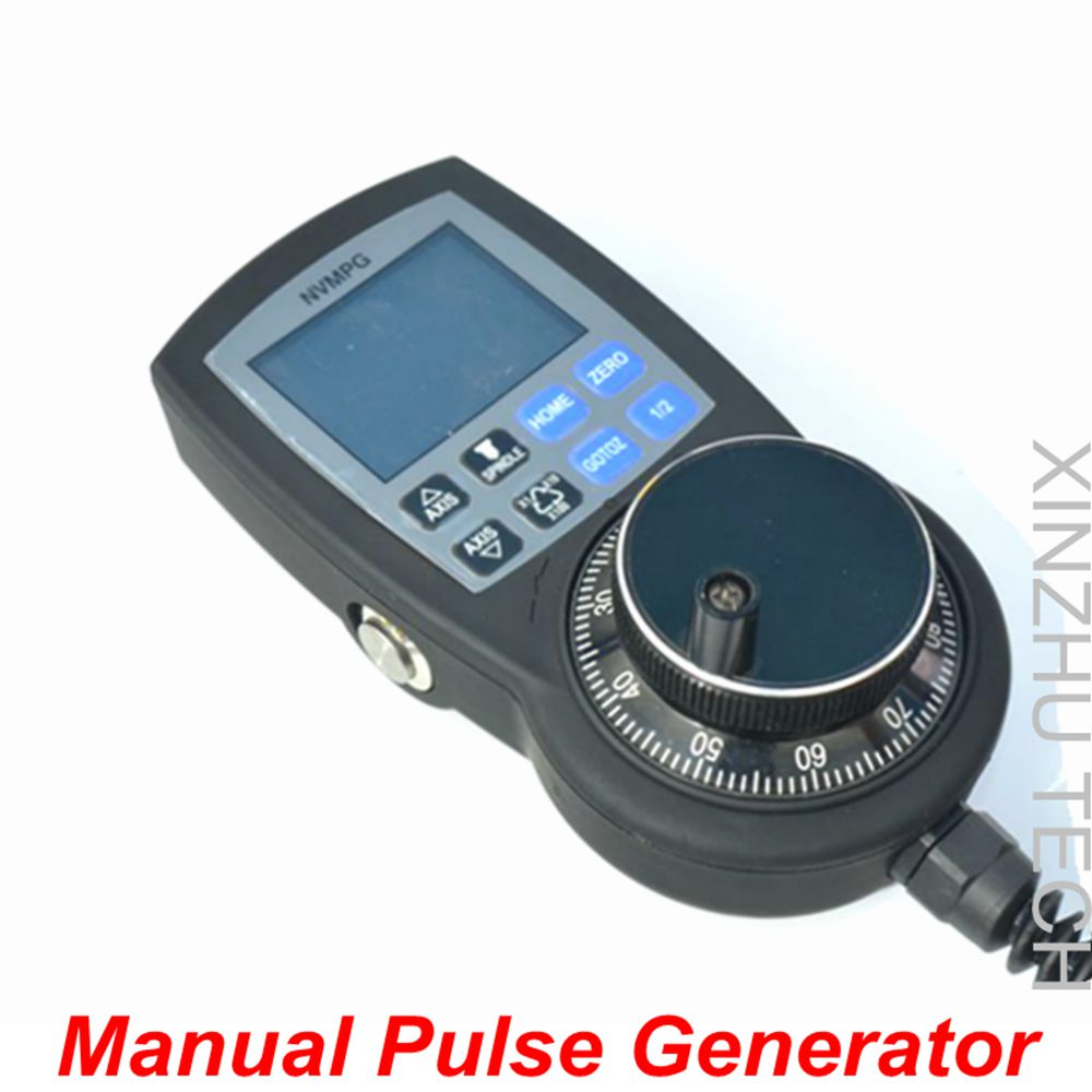 NVMPG CNC 6 Axis MPG Mach3 Manual Pulse Generator With Handwheel & LCD Full Serial Communication Protocol RJ45 handy pulser mpg handwheel 4 axis 100ppr 5v 15v manual pulse generator use for fanuc fagor cnc system with cable