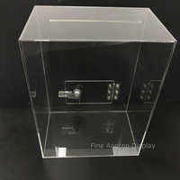 Deluxe Rectangle Jewelry Store Display Gift Card Holder Donation Box With Lock