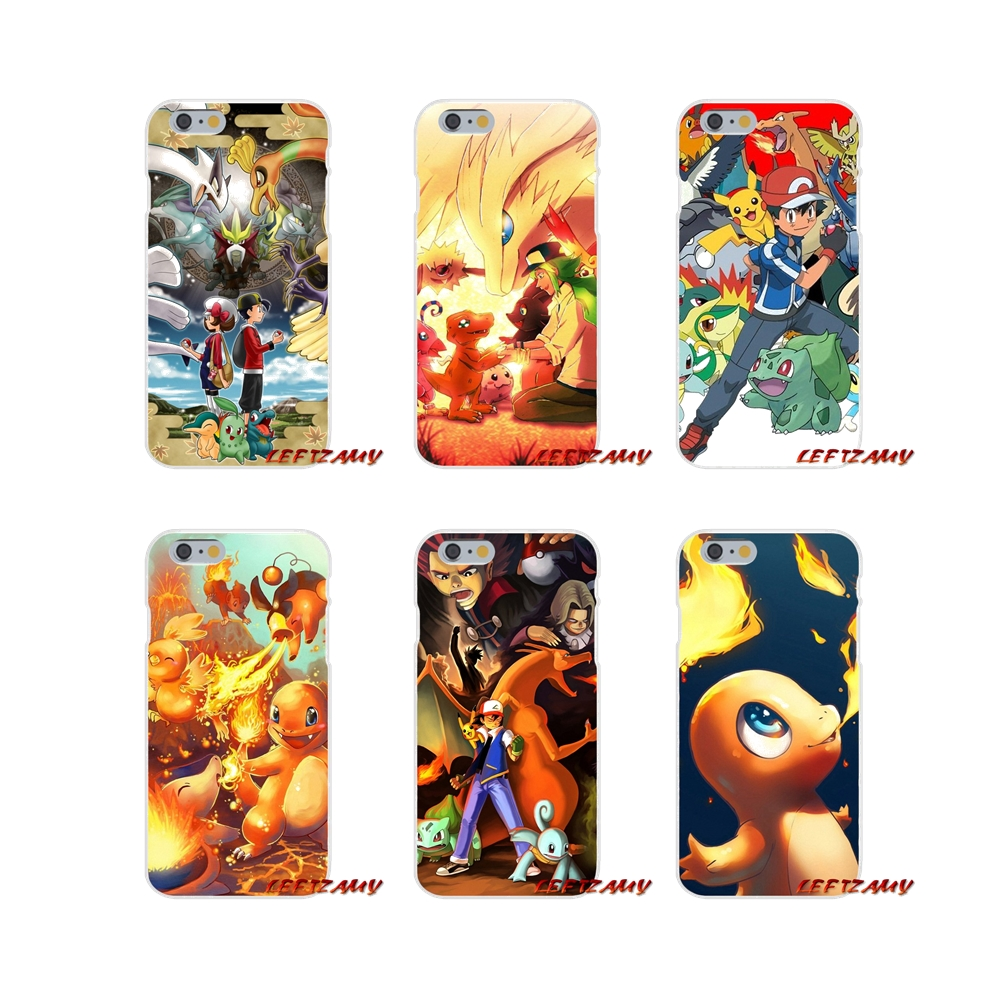 For iPhone X XR XS MAX 4 4S 5 5S 5C SE 6 6S 7 8 Plus Accessories Phone Case Covers cartoon Pokemons Bulbasaur fire type starters image