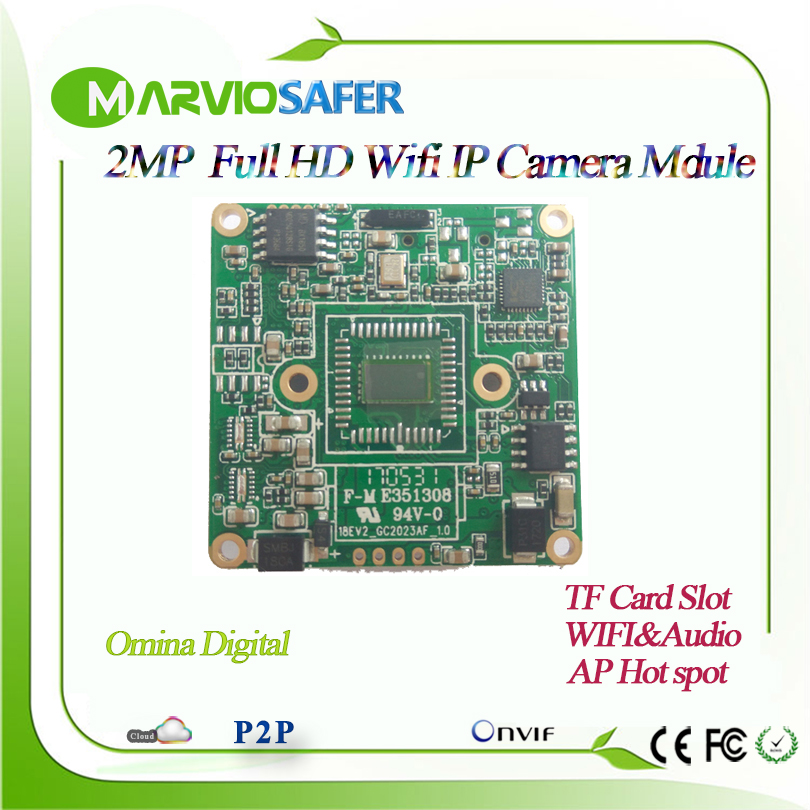 2MP 1080P Full HD Wifi CCTV Network IP Camera Module Board Wireless IP Cam Self AP Hot Spot, Onvif P2P Software Sony IMX323