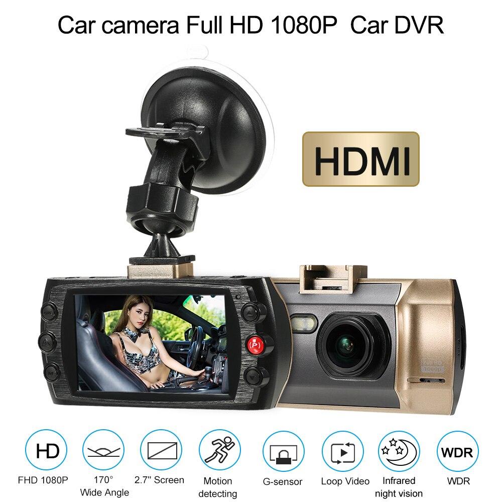 Universel De Voiture DVR Caméra 2.7 1080 P FHD Enregistreur Vidéo Registraire de Nuit Vision Dash Cam G-sensor Nuit Vision Détection de Mouvement
