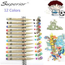 Superior 12 Color Drawing Artist Soft Brush Soluble Sketch Graffiti Marker for School Stationery Watercolor Paints Art Supplies