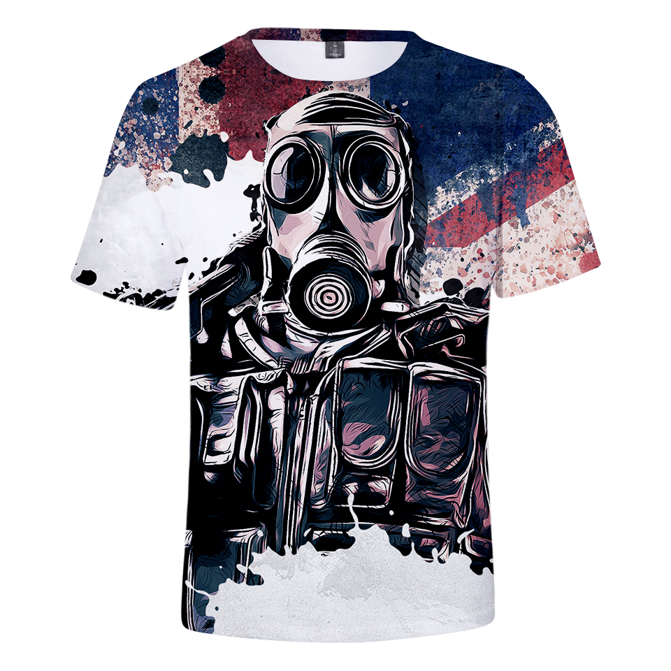 2018 Rainbow Six Siege 3D Print   T     shirt   Hot Sale Games Print   T  -  shirt   Men's Short Sleeve tshirt Summer Casual Funny Anime Clothes