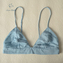 085fcd273b90 cotton jean fabric soft bra bralettes mesh lining sexy lingerie fit for the  summer without wire young lady girl S M L
