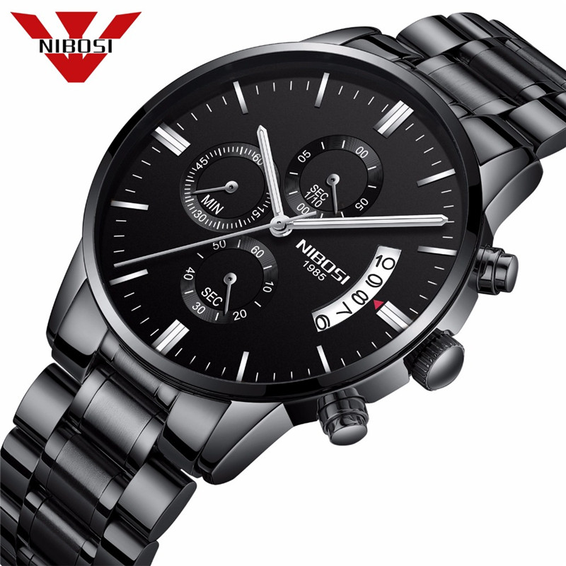NIBOSI Fashion Casual Men Watches Top Brand Luxury Calendar