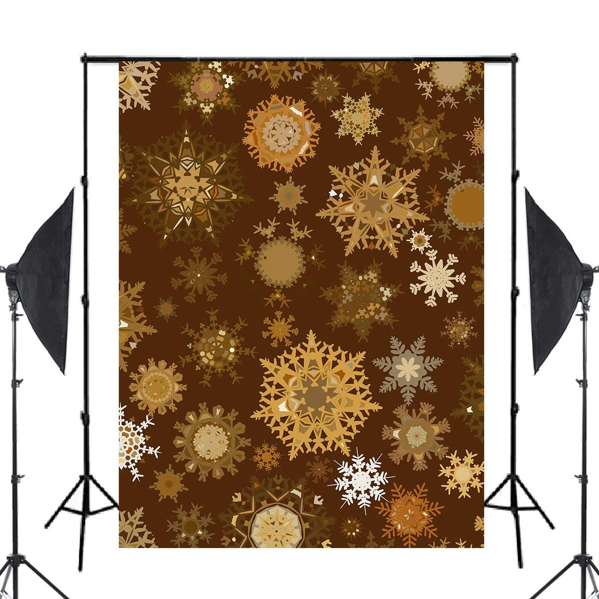 Image 2 - Yellow Snowflake Photography Backdrops Children Photo Studio Wallpaper 5x7ft-in Photo Studio Accessories from Consumer Electronics