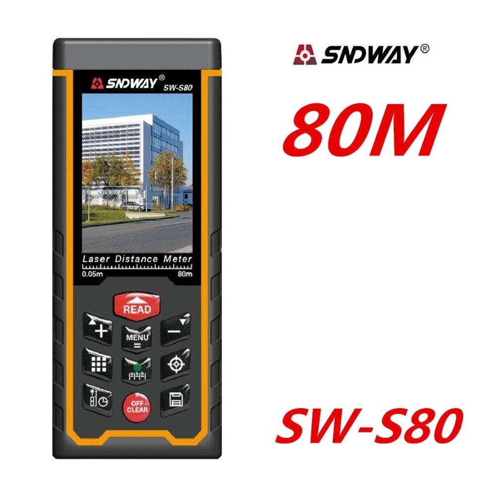 80M 120M Laser Distance meter Rangefinder SW-S80 Laser Range Finder tape Measure W-TFT Lcd Camera rechargeable battery цена