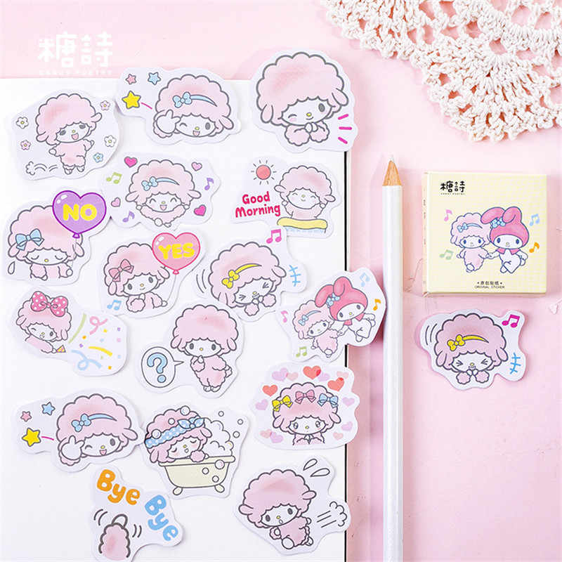 45Pcs/set kawaii Memo pad fashion cute lamb pattern Diary stickers planner Christmas decorations school supplies stationery