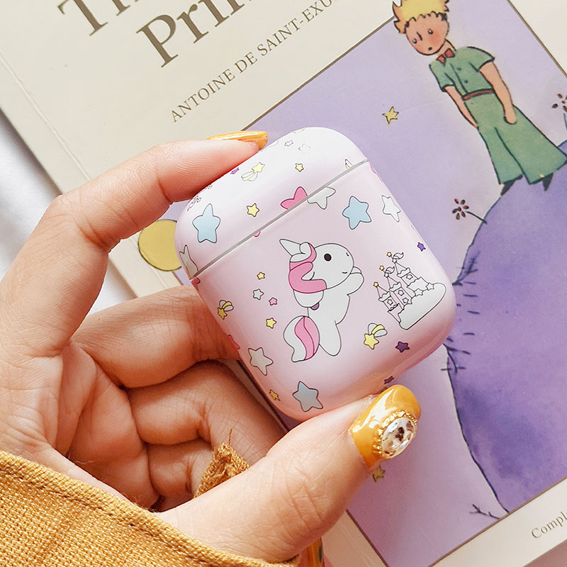 Image 4 - Cute Unicorn Stars Earphone Case For apple airpods Bluetooth Wireless Hard Charging Box Headphone Accessories Protective Cover-in Earphone Accessories from Consumer Electronics
