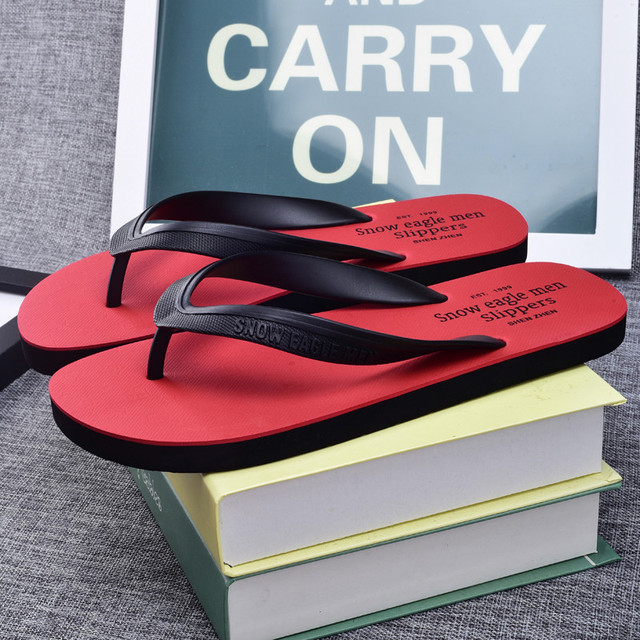 2018 Summer Men Flip Flops Male Mixed Color Slippers Men Casual PVC EVA Shoes Summer Fashion Beach Sandals Size 40~45