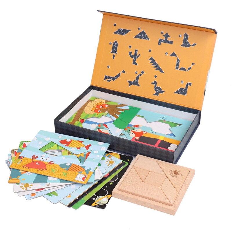 Puzzle di legno Giocattoli Per I Bambini Presto Educativo Gioco Oyuncak Montessori Giocattoli Per Le Ragazze Dei Ragazzi