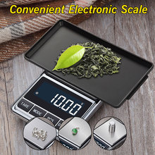 500g/100g x 0.01g Electronic Jewelry Scale Digital Pocket Weight Mini Precision Balance USB Powered LCD Gold Gram Weighing Scale стоимость