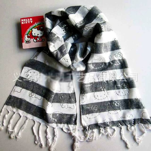 7fd8f8975 2014 brand Hello Kitty hot silver rayon scarf cotton children girls brand scarf  hello kitty kids