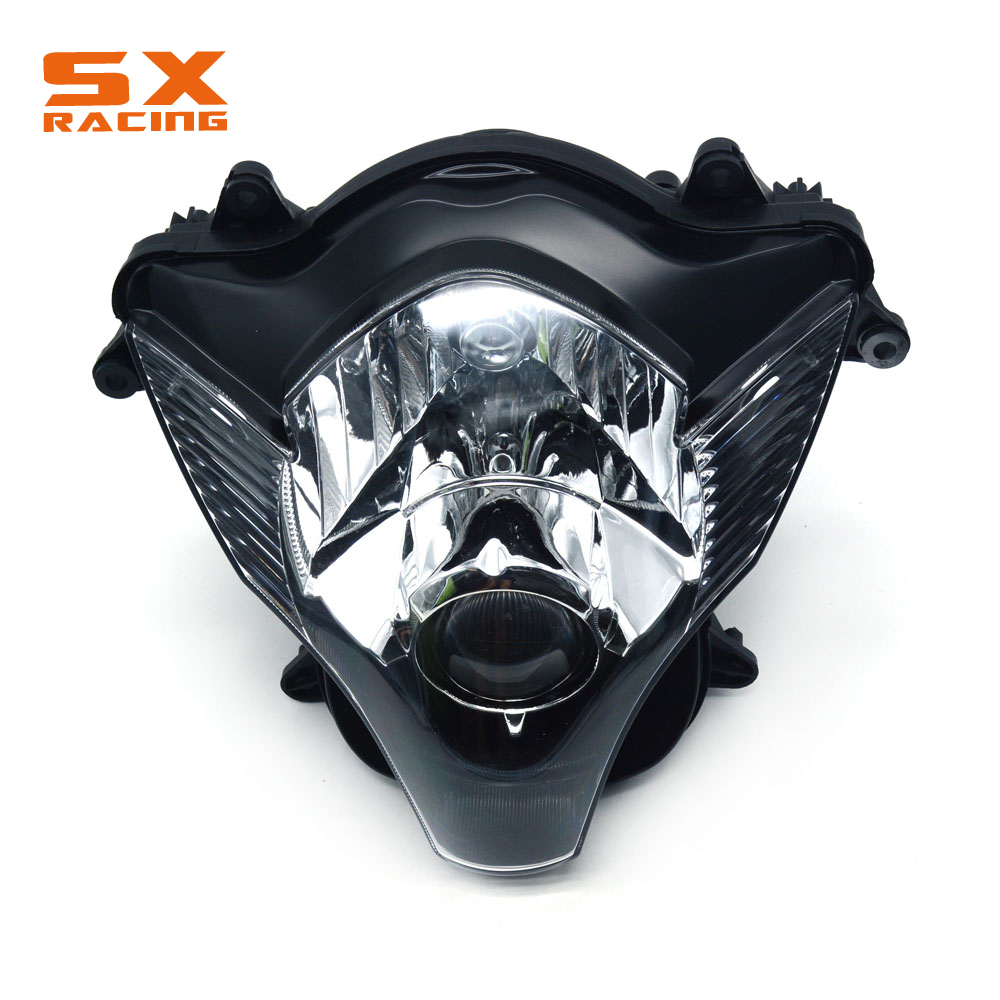 Motorcycle Plastic Headlight Headlamp Front Light For SUZUKI K6 GSXR600 GSXR750 GSXR 600 GSXR 750 GSX600R GSX750R 2006-2007 motorcycle tank side cover panels fairing for suzuki gsxr600 gsxr750 gsxr 600 750 k6 2006 2007 06 07 carbon fiber parts 2 pcs