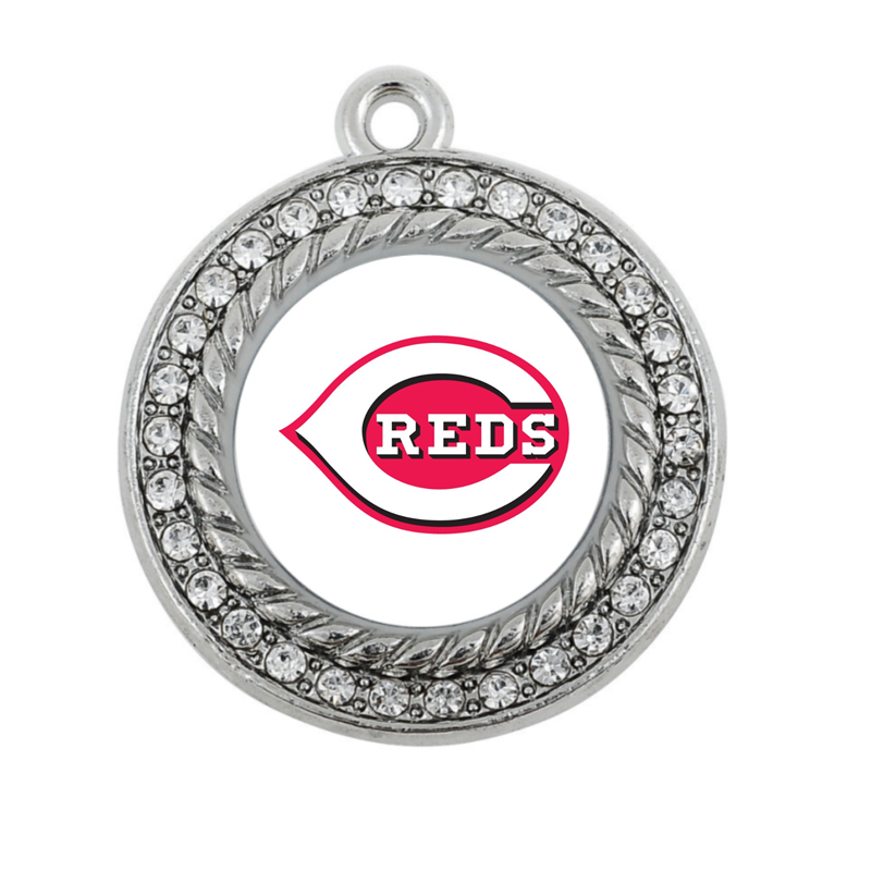 Cincinnati Reds CHARM ANTIQUE SILVER PLATED JEWELRY