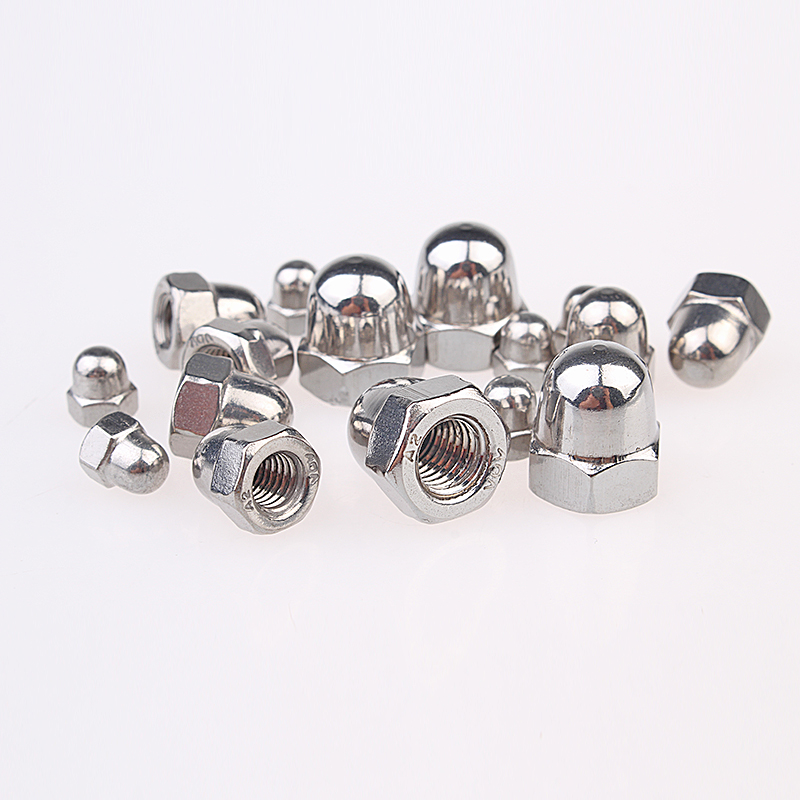 5mm M5 Dome Nuts Hex Domed Nuts A2-70 Stainless Steel DIN 1587 304 Pack 50