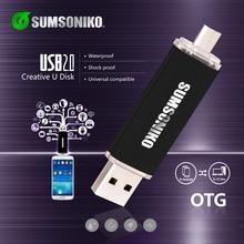 SUMSONIKO Телефон USB Flash Drive High Speed USB 2.0 OTG Pen Drive Пользовательские Подарок Ключ USB Flash Memory Stick Бесплатно доставка